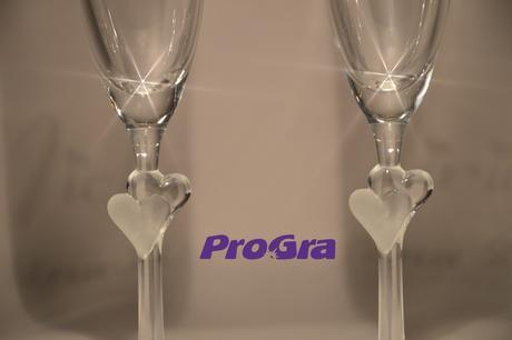 Abigail - svadobné poháre s bielymi srdiečkami - 2,