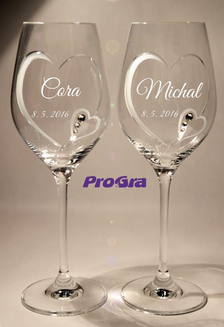 Cora - svadobné poháre 2ks,