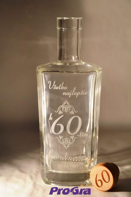 James - gravírovaná darčeková fľaša,