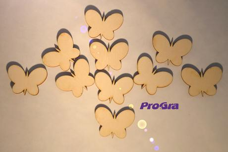 motýliky oblé - 2,5 cm - sada 10 ks,