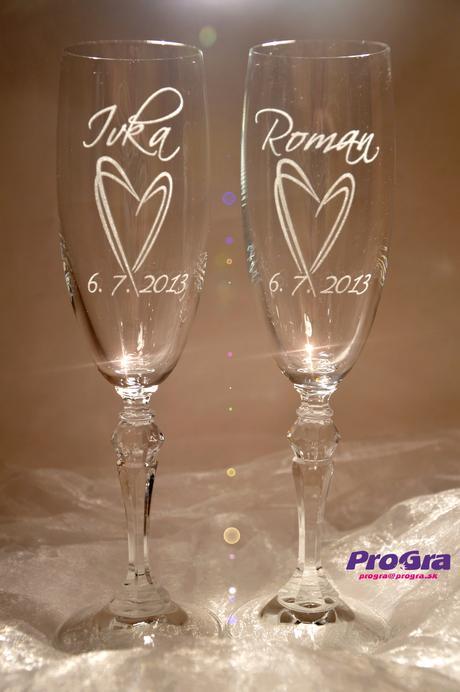 Svadobné poháre Sophia,