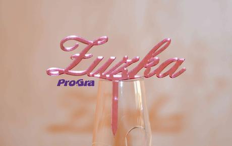 Vaše meno - ružový zápich,