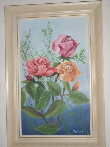 Obraz Ruže- olejomaľba,