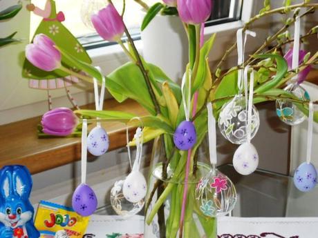 6 ks fialkové - lila veľkonočné vajíčka - nepoužív,