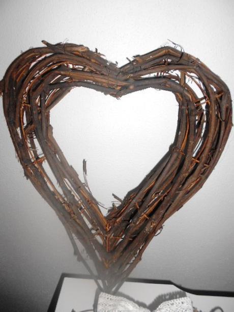 Svadobné 3D prútené srdce  maxi,