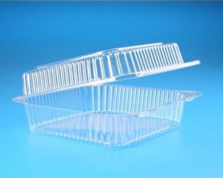 krabička na cukroví čtvercová, 18x18 cm. průhledná,