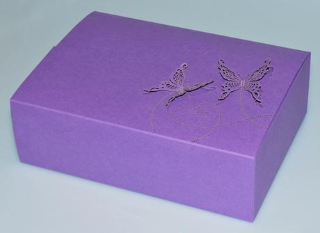 krabička na cukroví, fialová,