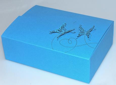 krabička na cukroví, modrá,