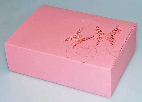 krabička na cukroví, růžová,