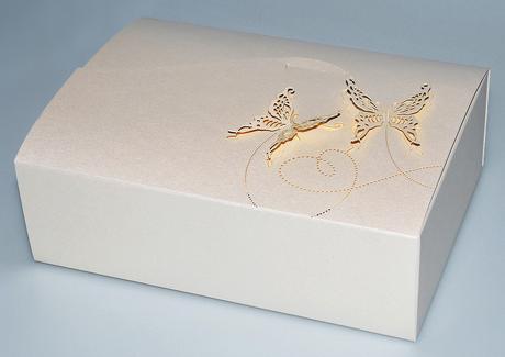 krabička na svatební cukroví, smetanová,
