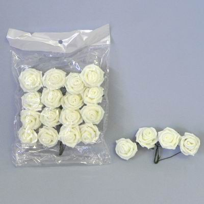 pěnové růžičky, bílé, vel. 5 cm,