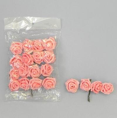 pěnové růžičky fialové, vel. 3 cm,