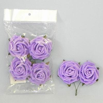 pěnové růžičky fialové, vel. 5 cm,