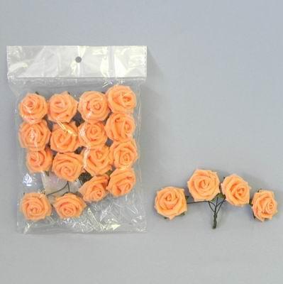 pěnové růžičky oranžové, vel. 5 cm,