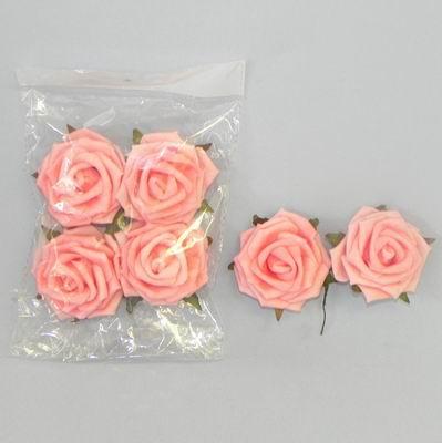 pěnové růžičky růžové, vel. 3 cm,
