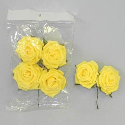 pěnové růžičky žluté, vel. 5 cm,