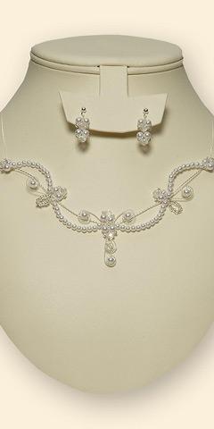 Perličková souprava, náhrdelník + náušnice, barva ,