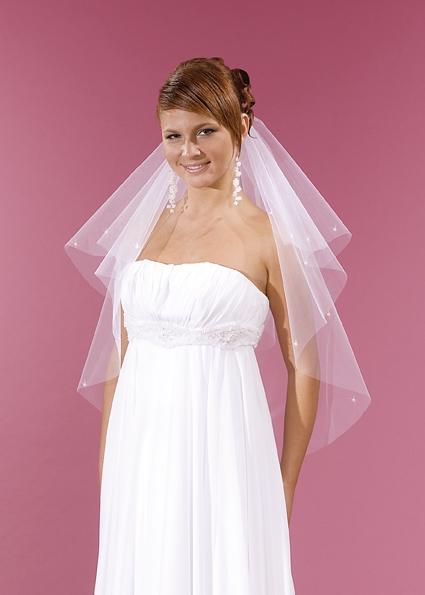 svatební bílý závoj ,