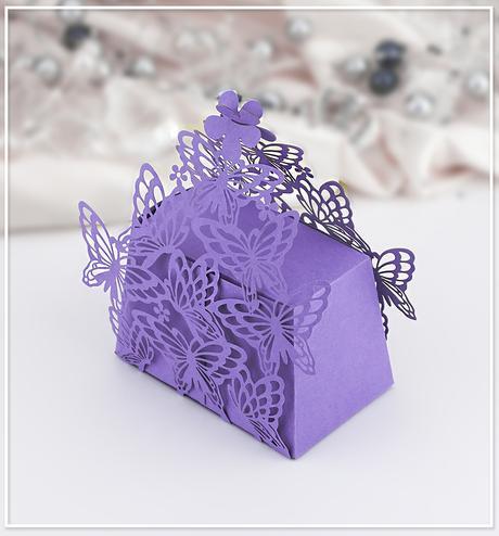 Svatební krabička na mandličky - K607,