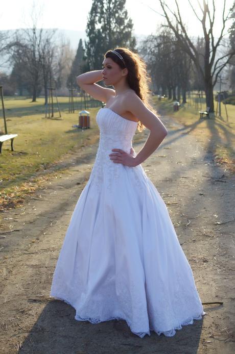 svatební šaty bílé, vel. 36-40, 38