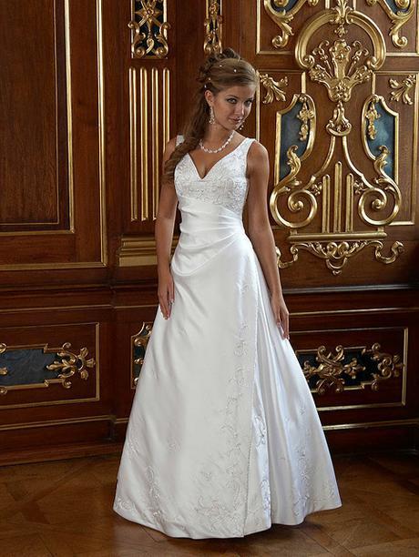 svatební šaty bílé, vel. XXL, 50-54, zn. Romantica, 52