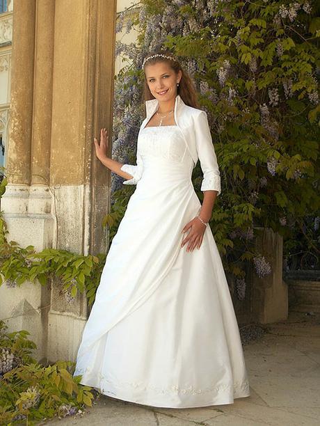 svatební šaty, vel. 44-48, bílé, 46