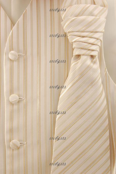 svatební smetanová vesta s regatou, 48