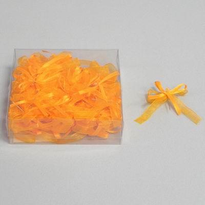 svatební vývazky - mašličky, žluté,