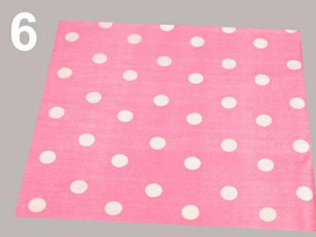 ubrousky růžové+bílý puntík,