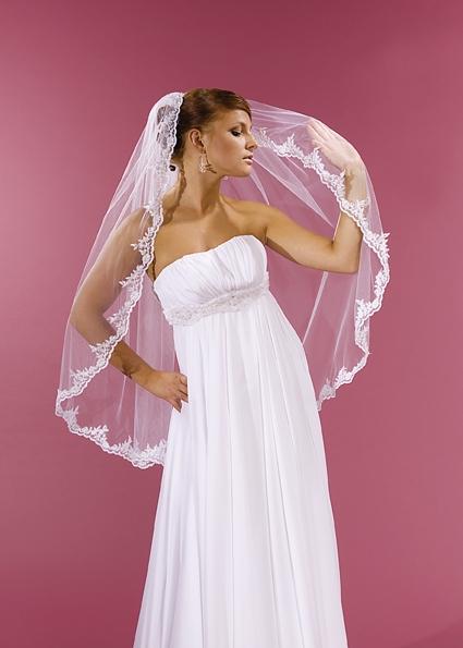 závoj svatební, délka 95 cm,