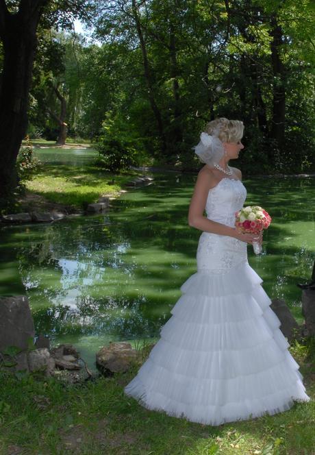 Nádherné svadobné šaty + darček, 34