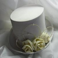Cylindr - smetanové růže,