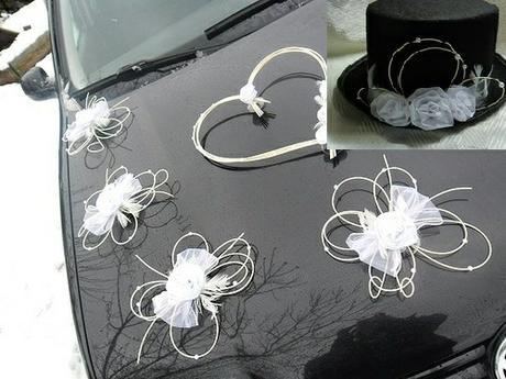 Dekorace pro nevěstu a ženicha,