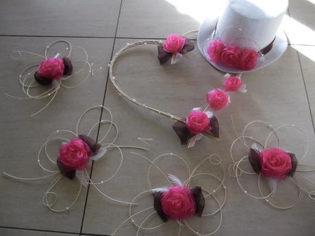 Dekorace pro nevěstu a ženicha - barva na přání,