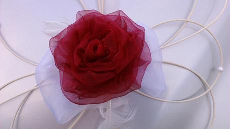 Dekorace pro nevěstu - bordo,