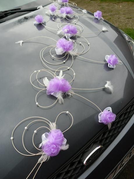 Dekorace pro nevěstu - lila,