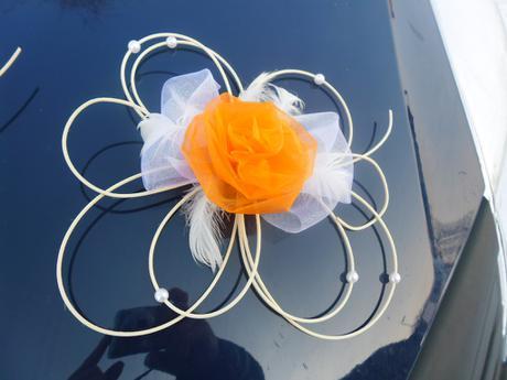 Dekorace pro nevěstu - oranžová,