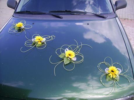 Dekorace pro nevěstu - slunečnice,