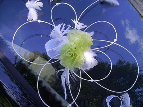 Dekorace pro nevěstu - zelená,