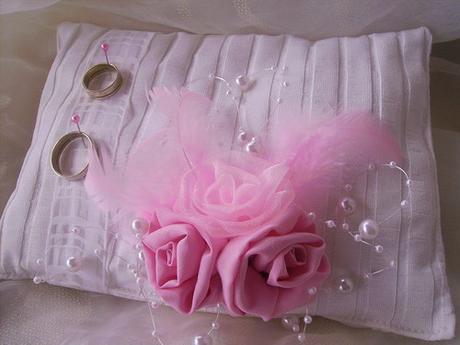 Polštářek pod prstýnky - růžový,