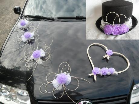 sada na auto nevěsta, ženich - barva na přání,