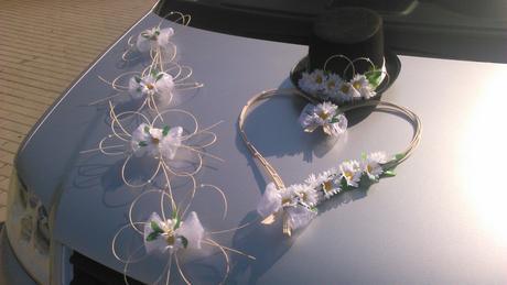 Sada pro nevěstu a ženicha - kopretiny,
