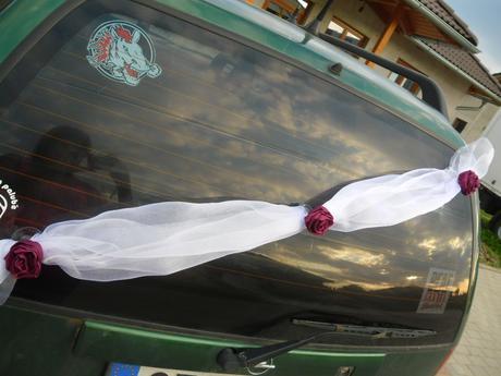 Šerpa na zadní sklo - barva růží na přání,