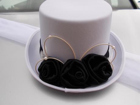 Šerpa s cylindrem, barva růží na přání,