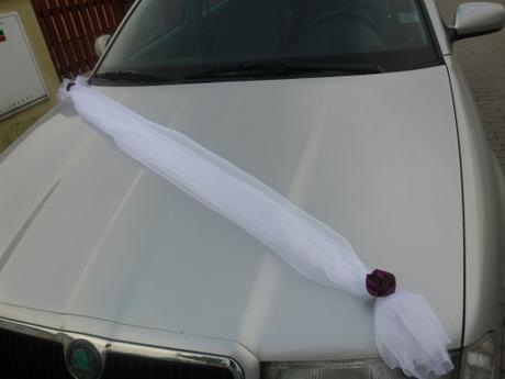 Šerpa s růžičkami na auto - barva růží na přání,
