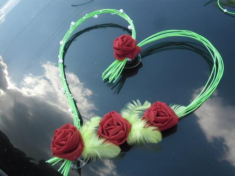 Srdíčko na auto nebo dveře - barva na přání,