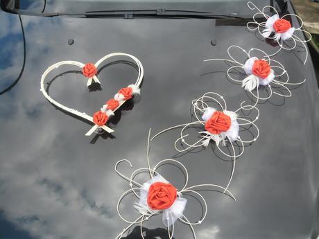 Svatební dekorace - červená,