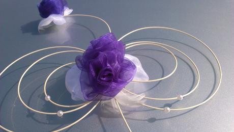 Svatební dekorace fialová, barva na přání,