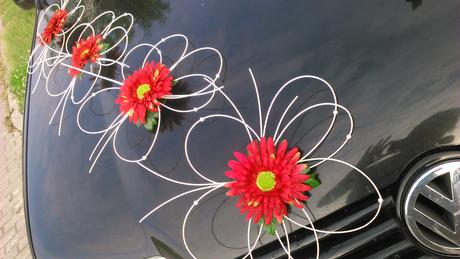 Svatební dekorace gerbery,