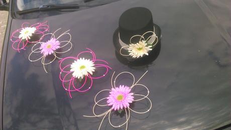 Svatební dekorace - gerbery,